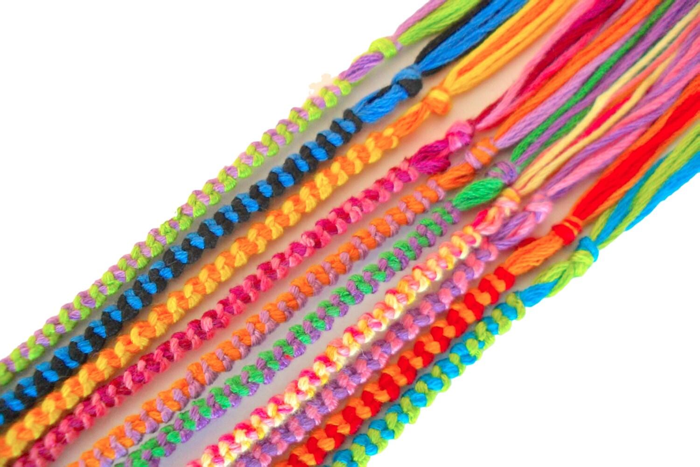 10 friendship bracelets assorted colors bulk wholesale