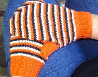 striped mittens in flyers' colors
