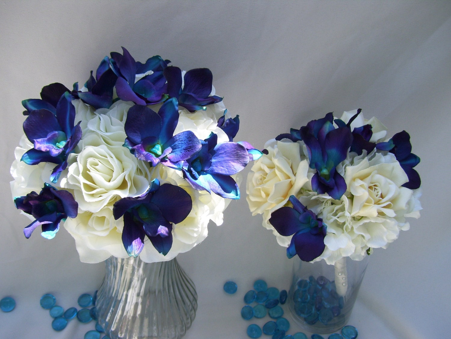 Taylor's Bridal Bouquet with Blue Violet Dendrobium