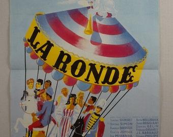 """Movie Poster             """"La Ronde"""" -           1950"""