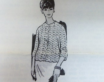 Vintage Mail Order Laura Wheeler Design 7344 Misses CROCHETED JACKET Pattern