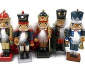 Vintage 1970's Christmas Nutcrackers (Set of 5)