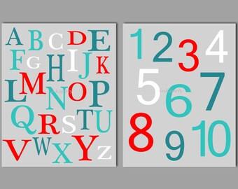 Delightful Alphabet Wall Art   Alphabet Print   Playroom Wall Art   ABC Print   ABC  Wall Part 24