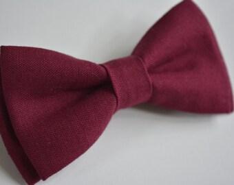 Bow Tie-Crimson color bow tie for kids or men, clip on bow tie for kids, self tie bow tie for men, free style bow tie, clip on bow tie