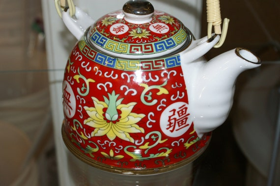 ON SALE! Japanese Style Ceramic Tea Pot with Tea Strainer