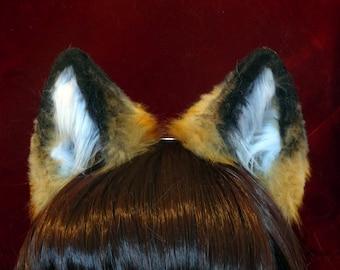 Red Fox Faux Fur Ears