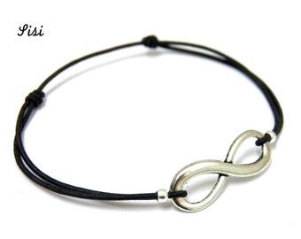 Bracelet black infinity