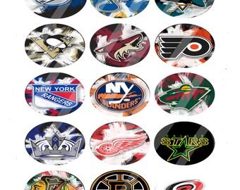 Random NHL teams 18x25mm ovals 2