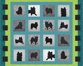 Precious Pomeranian Silhouette Pattern (Includes freezer paper templates & fusible webbing) Please contact me for other breeds