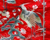 Antique Chinese Embroidery Qing Dynasty Skirt 1850 Handmade PHENOMENAL CONDITION