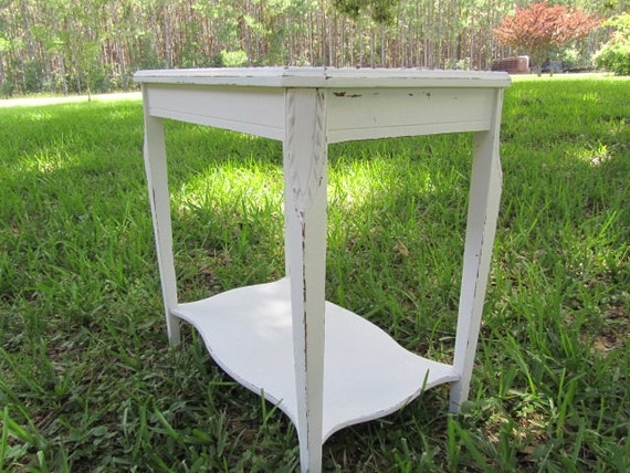 Shabby Decor Side Table Nightstand Vintage By