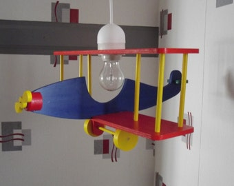 Airplane wooden ceiling light