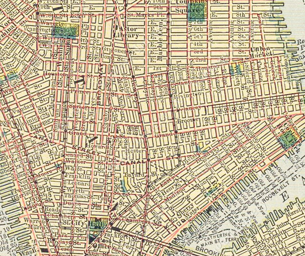 Old New York City Map Huge Vintage Historic  New York City Nyc - Nyc map to print