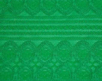 Kelly Green Lace Fabric by the yard Stretchy Lace Fabric Knit Lace Fabric Dresses Wedding Decoration - 1 Yard Style 6031-LACE