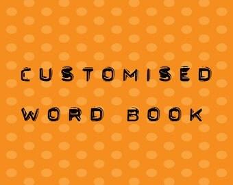 4 Letter Word Album Pre Made Scrapbook Memory Book