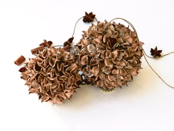 Natural Cotton Bur Balls Ornaments Flower Pods By FlorArtSilva