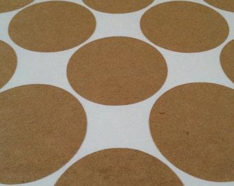 Canning Jar Kraft Paper Sticker Labels Set of 18 - Canning Labels - Jar Labels - Box Labels - Write On Labels - Blank Labels - Circle Labels