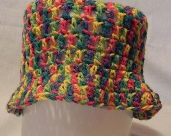 Women's Crochet Multi-colored Varigated Hat