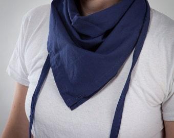 blue cotton scarf foulard