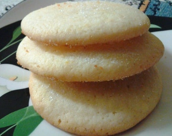 Super Lemon Sugar Cookies Summer Flavors, Great for Favors Bridal, Baby and Wedding Favors individually Wrapped