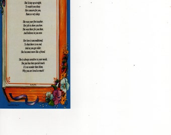 "Bookmark - ""What Is A Mother"" Poem on ""Memories"" Background"