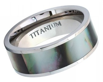 "Titanium Wedding Band, "" FREE ENGRAVING "" , Titanium engagement ring, Titanium Men's Ring, Ring For men, MMTi452"
