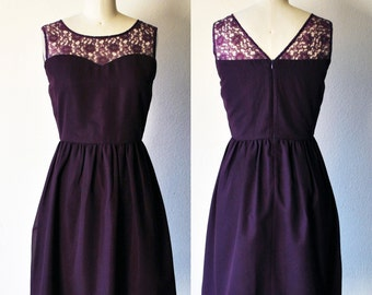 Plum lace dress | Etsy