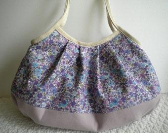 Granny Bag (Large) - Tote bag - Shoulder bag - Pleated bag - Purple - Antique purple - Light purple - floral - Polka dots - Mother's Day