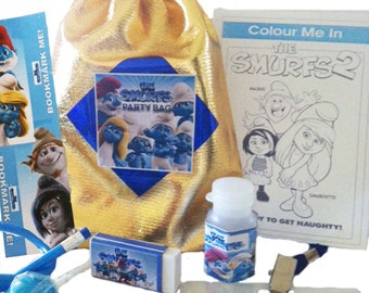 Smurf Party Loot Bag with 9 great items inside