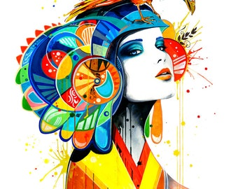 "Art Print ""The Aztec"""