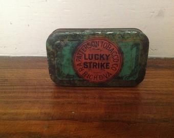 Lucky Strike Cut Plug Tin