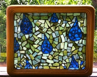 Mosaic Glass Raindrops
