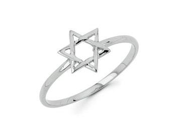 14K Star of david, jewish star, gold ring, jewish ring, jewish symbol, jewish jewelry, dainty jewelry