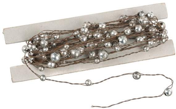 Mercury Glass Garland 24 Ft DIY Wedding Antique By
