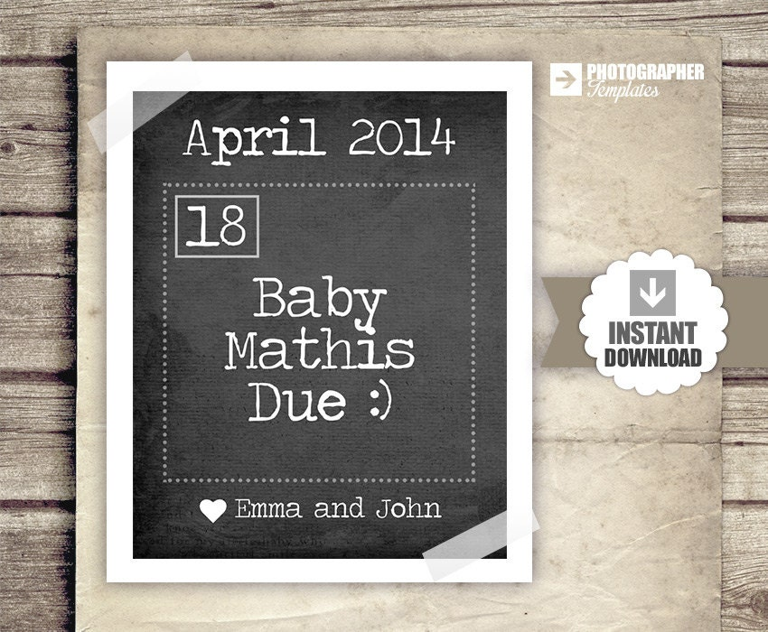 Pregnancy Announcement Calendar Baby Announcement News – Etsy Baby Announcements