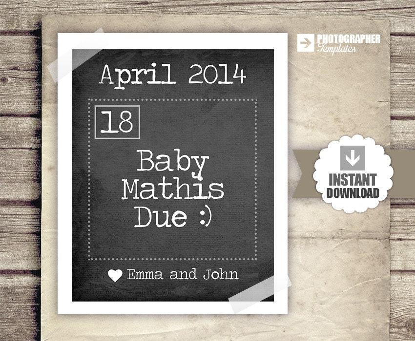Pregnancy Announcement Calendar Baby Announcement News – Baby Announcement Free Template