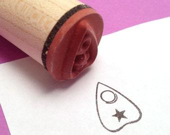 Mystical Fortune Teller Ouija Planchette Rubber Stamp, Spirit Board Pointer, Planner Stamp