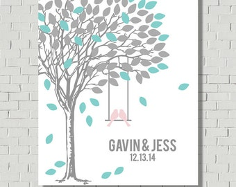 Alternative Guest Book - Guest Book Print - Guestbook Tree - Wedding Gift - Wedding Poster - Wish Tree - Bridal Shower Gift - Wedding Tree
