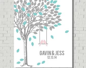 Unique Guest Book Alternative - Wedding Gift - Wedding Poster - Guest Book Print - Wedding Wish Tree - Bridal Shower Gift - Wedding Tree