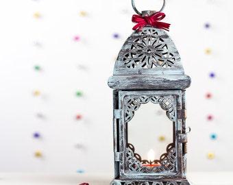 Rustic lantern-Rustic candleholder-Pool décor-Backyard décor-Moroccan décor-Metal Candle Holder-Rustic Candle Holder-Wedding Lanterns