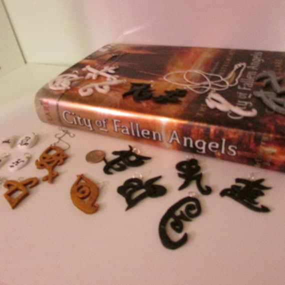 Handmade The Mortal Instruments Mini Book Charm Bookmark Set Of 6 Geekery Gift