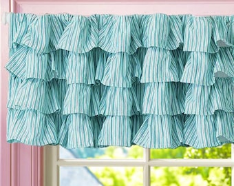 Custom Ruffled Tier Valance