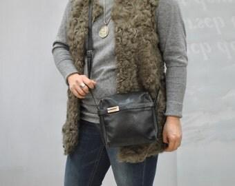 Vintage JOOP designer messenger leather bag , handmade .....