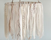 Baby Ribbon & Lace Mobile, baby mobile, childs room, hanging decor, crib mobile, nursery decor