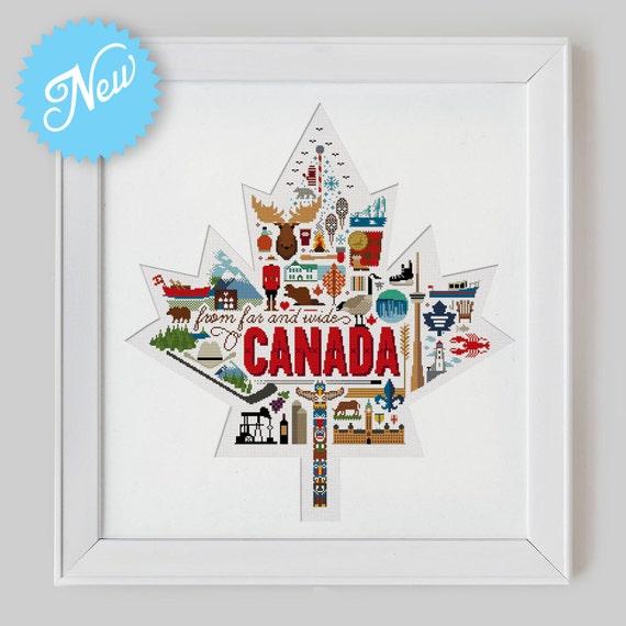 Canada Sampler Cross Stitch Pattern Digital Format PDF