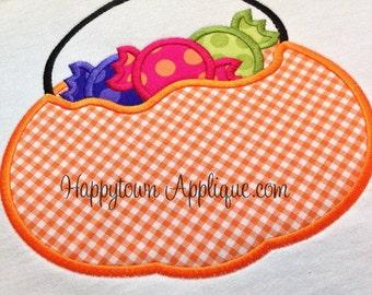 Candy Bucket Machine Applique Design