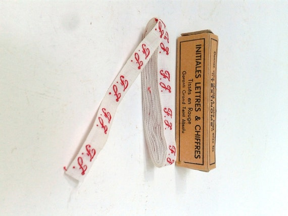 French laundry labels from French Vintage Textile