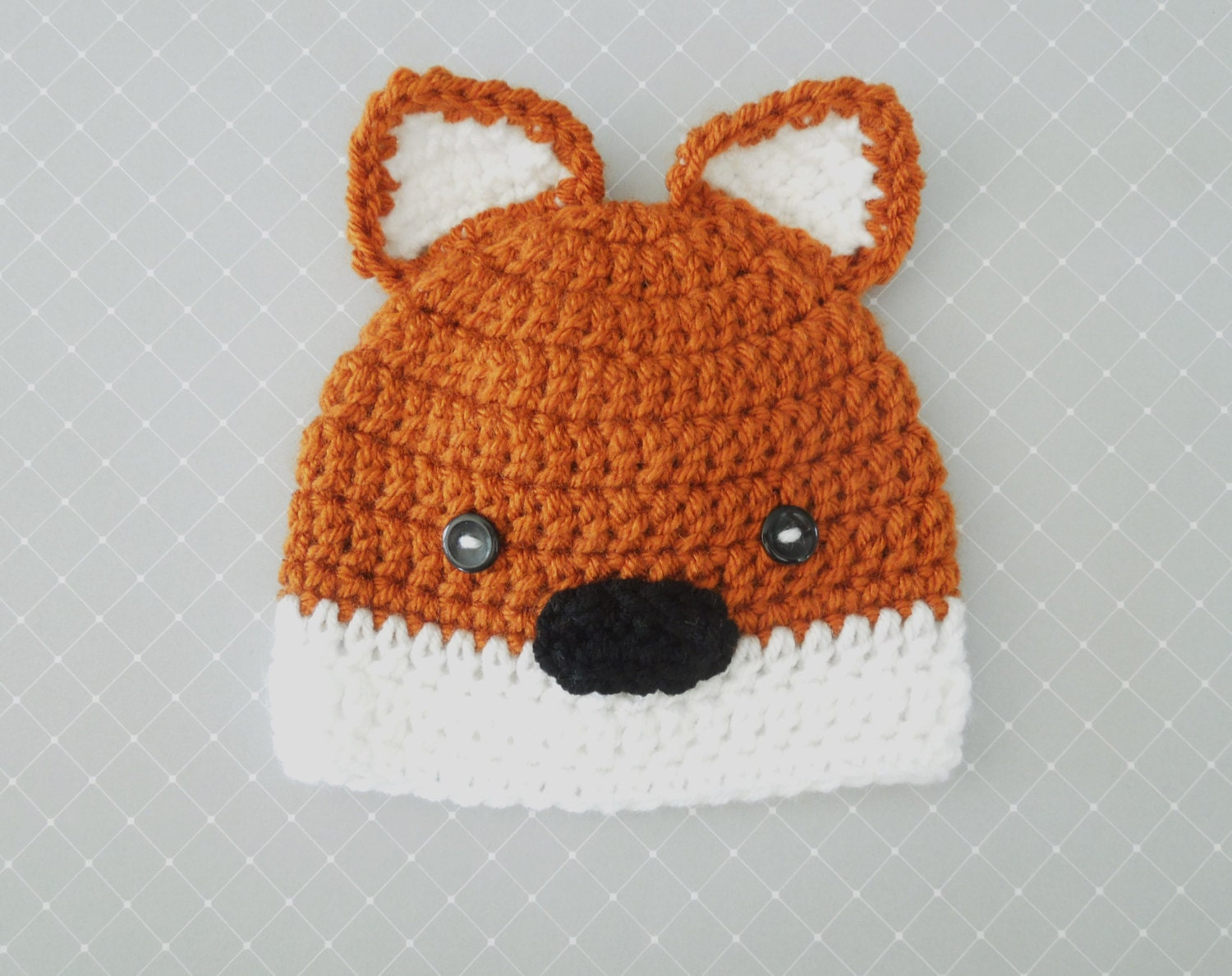 Crochet Fox Hat : Baby Fox Hat Crochet Baby Boy Hat Fox Beanie by HippityHoppityHats