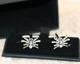 Silver Spider Cufflinks