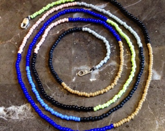 Colorblock Beaded Necklace
